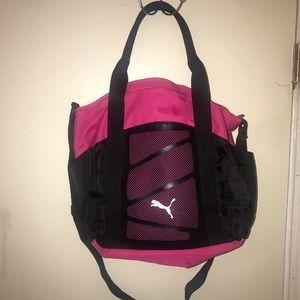 Pink Puma crossbody bag